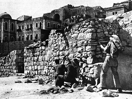 ירדנים מתקיפים ישיבה בירושלים. ארכיון (צילום: חדשות)