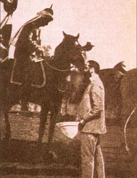 הרצל וקיסר גרמניה (צילום: ויקיפדיה/דוד וולפסון)