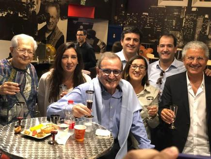 לאון אדרי עם משפחתו, אפריל 2018
