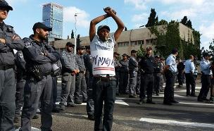 מחאת העדה האתיופית, ארכיון (צילום: החדשות)