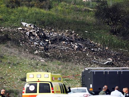 שרידי המטוס הישראלי שהופל