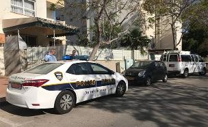 זירת התקרית באשקלון, היום (צילום: דוברות המשטרה)