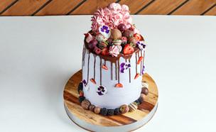 עוגת וניל ופירות יער גבוהה (צילום: אמיר מנחם, אוכל טוב)