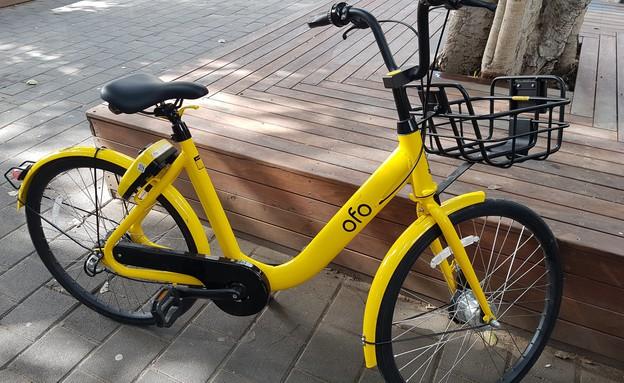 האופניים השיתופיים של ofo (צילום: דנה גוטרזון)