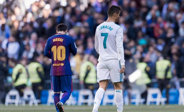 מסי ורונאלדו (צילום: Power Sport Images/Getty Images)