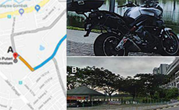 האופנוע שאותר אתמול (צילום: ללא)