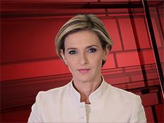 דנה ויס עם חדשות סוף השבוע (צילום: חדשות  12)