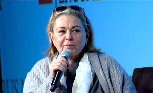 """הקומיקאית האמריקאית רוזאן בר בבחירות בישראל?  (צילום: מתוך """"ערב טוב עם גיא פינס"""", שידורי קשת)"""