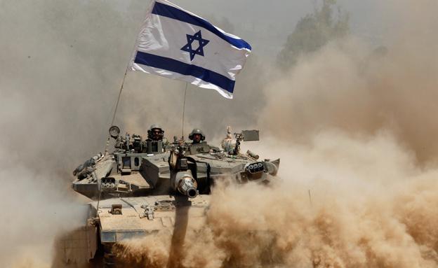 טנק ישראלי בפעולה צבאית, ארכיון (צילום: רויטרס)