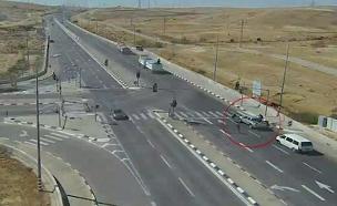 תקיפת רכב בדרום (צילום: נתיבי ישראל)