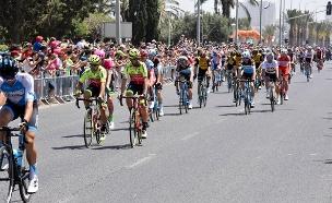 מירוץ אופנייים הגירו בחיפה (צילום: דוברות המשטרה)