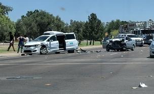 זירת התאונה באריזונה, אתמול (צילום: טוויטר)