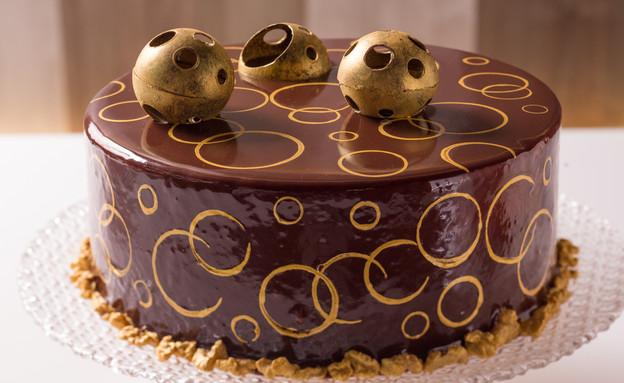 """עוגת """"מדוביק"""" הפוכה - עוגת דבש ושמנת חמוצה (צילום: בני גם זו לטובה, אוכל טוב)"""