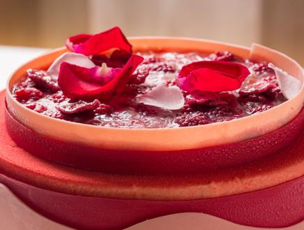 עוגת ורדים, פטל וליצ'י
