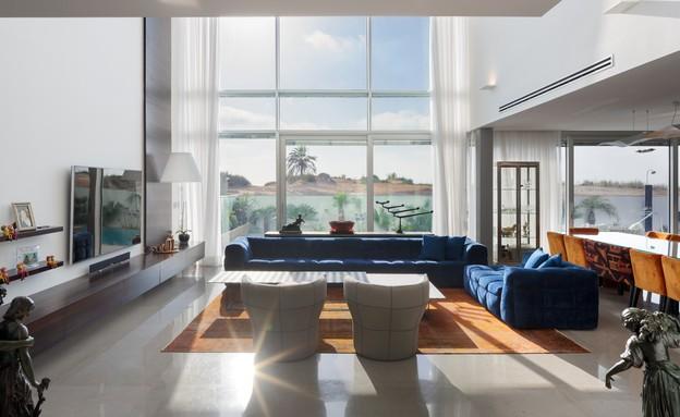 בית באשדוד, זהבי ד.א. אדריכלים, סלון (26) (צילום: שי אפשטיין)