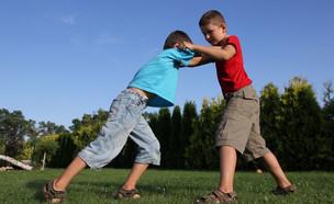 שני בנים רבים בפארק (אילוסטרציה: By Dafna A.meron, shutterstock)