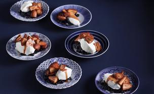 עוגת גבינה ושוקולד לבן מפורקת (צילום: דניאל לילה , מחלבות גד)