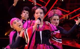 נטע ברזילי מתוך האירוויזיון (צילום: יוטיוב , צילום מסך)