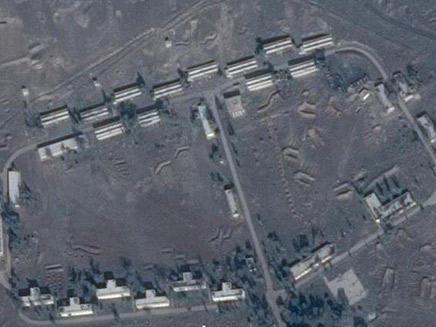 תצלום לוויין של אזור התקיפה