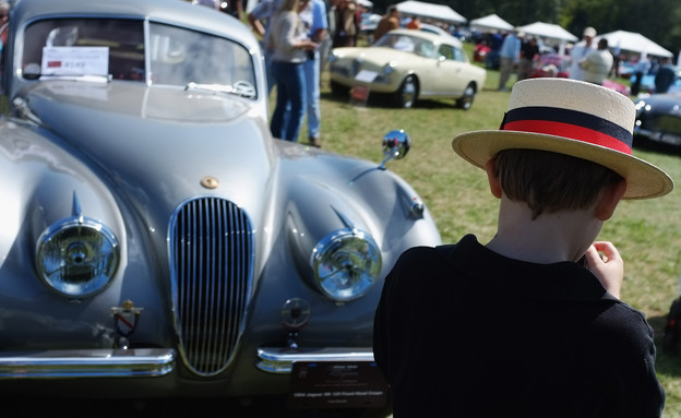 תערוכת מכוניות יוקרה בקונטיקט (צילום: GettyImages - Spencer Platt)