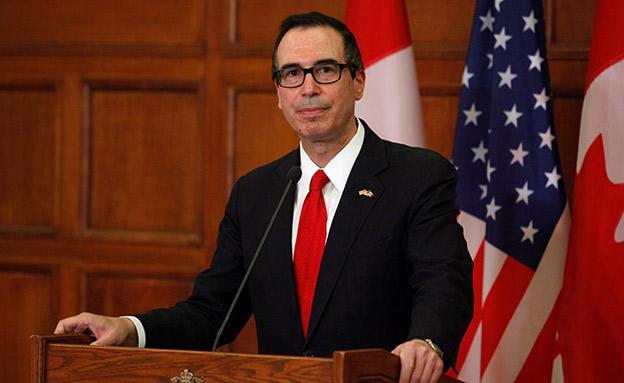סטיבן מנוצ'ין, שר האוצר האמריקני (צילום: רויטרס)