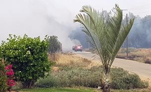 שריפה במושב גילת (צילום: חדשות 2)