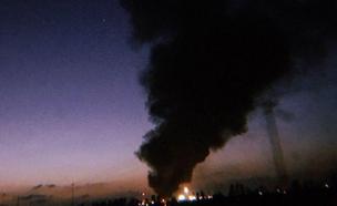 """השריפה בכרם שלום, אתמול (צילום: דובר צה""""ל)"""