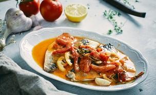 פילה דניס בחמאת עגבניות של אבי ביטון (צילום: אמיר מנחם, אוכל טוב)