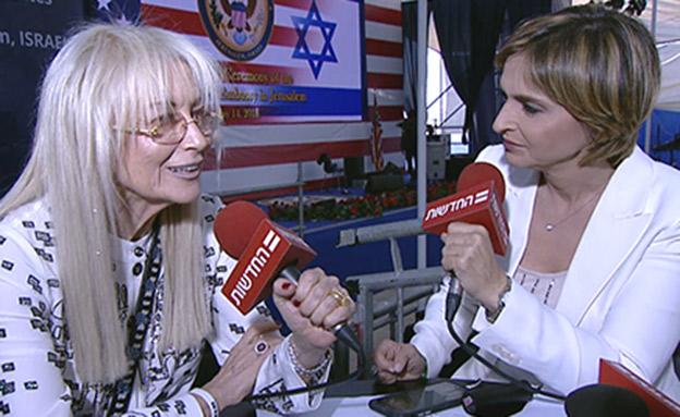 """""""פתיחת השגרירות תקדם את השלום"""" (צילום: החדשות)"""
