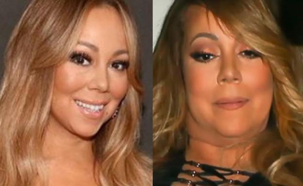 מריה קארי לפני ואחרי (צילום: תמונות מעמוד היוטיוב Empressive-News ומעמוד האינסטגרם mariahcarey)