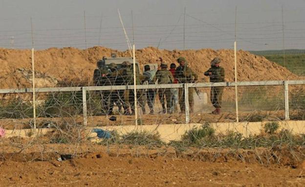 רגע המעצר של המחבל אתמול בגבול