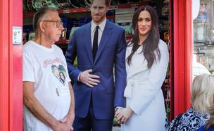 שלט של הנסיך הארי ומייגן מרקל בחנות בווינדזור (צילום: Leon Neal, Getty Images)