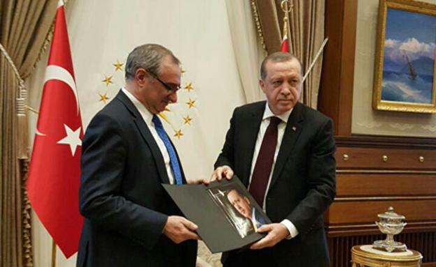 השגריר בטורקיה עם ארדואן בימים טובים יות (צילום: משרד החוץ)