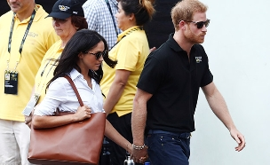 הנסיך הארי עם חברתו מייגן מרקל (צילום: רויטרס)