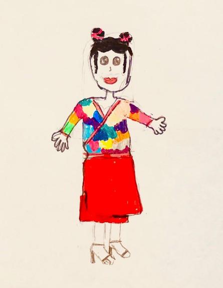 איור של רונה, בת 10 (צילום: צילום ביתי)