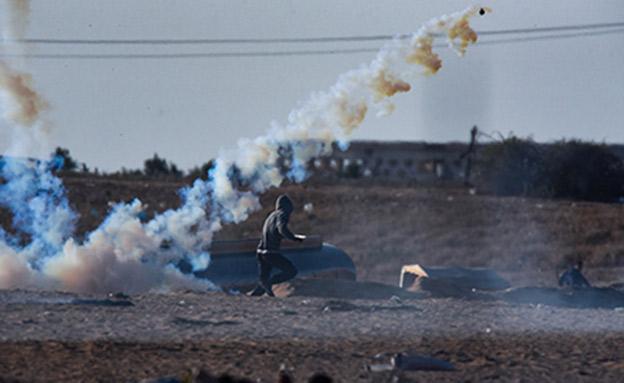 """העימותים בגבול הרצועה, השבוע (צילום: דובר צה""""ל)"""