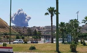 תיעוד הפיצוץ בבסיס הטילים הסורי