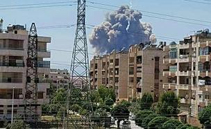 פיצוץ בדמשק (צילום: חדשות 2)