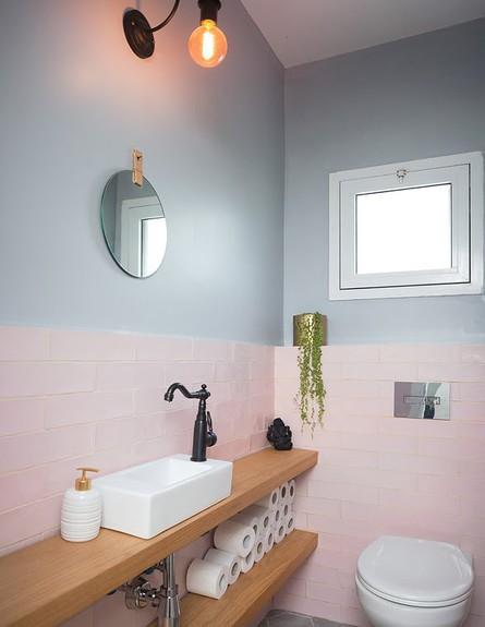 דירה בהרצליה, ג, עיצוב עדידה הלבשת בתים, חדר רחצה - 42 (צילום: שי אפשטיין)