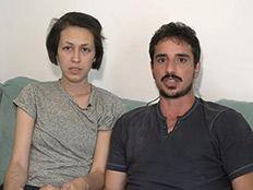 זוג שאבד בטיול במדבר (צילום: החדשות)