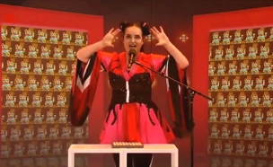 """כש""""טוי"""" הפך לסאטירה נגד ישראל - בהולנד (צילום: מתוך תכנית סאטירה בטלוויזיה ההולדנית)"""