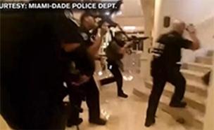 תיעוד ממצלמת גוף: תקרית ירי במלון טראמפ (צילום: CNN)
