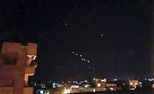אזור המתקפה המדווחת, הלילה (צילום: מתוך התקשורת הסורית)