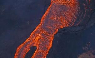 התפרצות הר געש בהוואי (צילום: sky news)