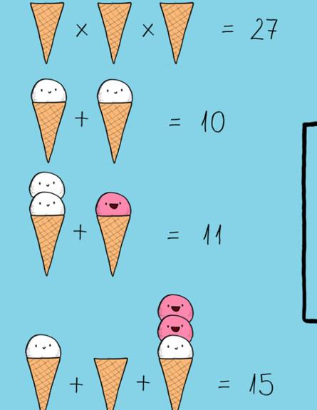 חידת הגלידה המתמטית (צילום: פייסבוק\Dudolf)