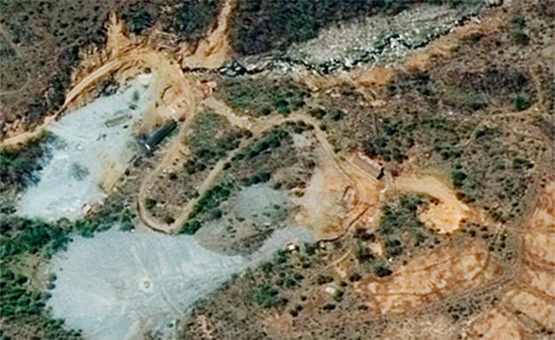 אתר הגרעין שנהרס (צילום: Yonhap)