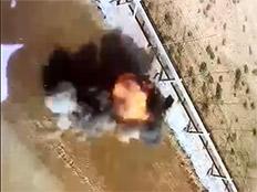 פיצוץ מטען ברצועת עזה (צילום: חדשות 2)
