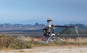 """צפו: מסוק ללא טייס (צילום: דו""""צ)"""