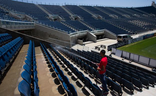"""30 אלף מקומות ישיבה. אצטדיון """"טדי"""" (צילום: רויטרס)"""