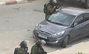 דיווח: 5 פלסטינים נפצעו (צילום: מתוך התקשורת הפלסטינית)
